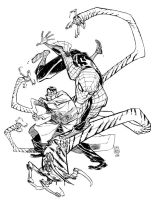 SPIDERMANvsDOC OCK_commission by EricCanete
