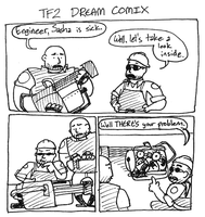 TF2 Dream Comix by fuzzyrobot