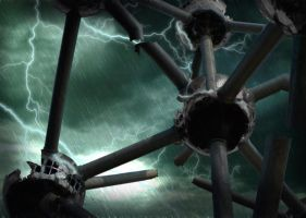 Atomium ruins by Serpentesss