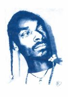 Snoop Doggy Dogg Pencil Sketch by DJMark563