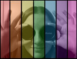 Rainbow Self Portrait by JRollendz