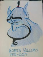 Robin Williams- Genie by HarukoAkatsuki