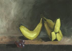 Bananas And Grapes by h-i-l-e-x