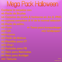 Mega Pack Hallowen by TutosEsponja