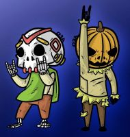 happy halloween and dia de muertos by D3a