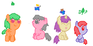 Baby Pony Adoptables Set 1- OPEN by LittleSnowyOwl