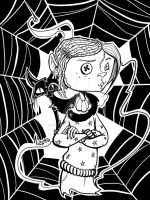 Coraline (black and white version) by Ekanes