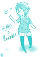 BMO and Bubble by optimisticFatality