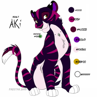 Adult Aki -2009 ref sheet- by KaiserTiger
