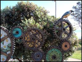 Art along the boardwalk by andromeda