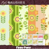 Flower Power retro patterns by brushesfreedow