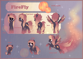 Reference sheet commission: FireFly by StarDust-Adoptables