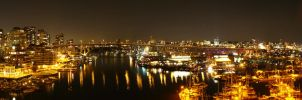 Vancouver at Night Panorama by ICPJuggalo1988