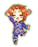 Italy: Chibi keychain sample by black-feather1013
