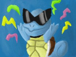 New Year's Squirtle by Quacksquared
