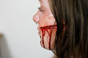 Sliced Face (side view) by Freakmo-SFX