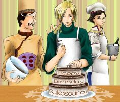 The cooks's finishing touches by djmidori