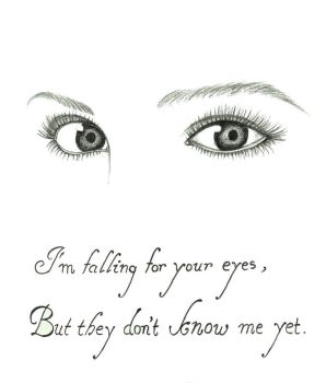 I'm falling for your eyes .. by TheWindSpirit