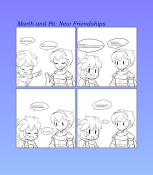 Pit And Marth: New Friendships by CutieSweetCakes