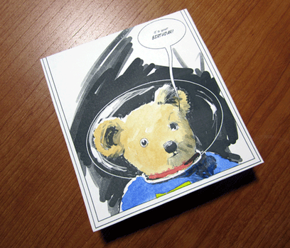 Spacebear watercolors by tedbergeron