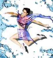 Jenny Pacey water dress by nickyheavens