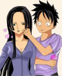 Share me an ice cream, Luffy by MonsterOz