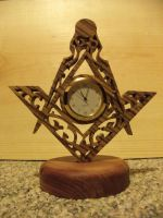 Freemason Clock by ichtheria