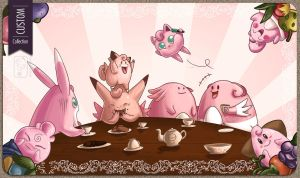Custom Playmat - Rose Tea Party by UmbreoNoctie