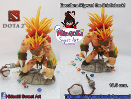 Rigwarl the Bristleback! Sculpture from Dota2 by Hideoki