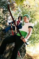 Zoro and Tashigi - Blades by abolechander