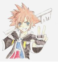 KH anime Sora by shattered-destiny