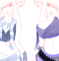 Misa + Mona New Designs WIP by Faunella