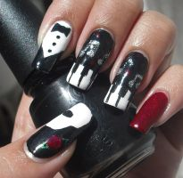 Phantom Of The Opera Nails by aleidapinon