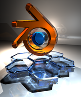 Blender Logo v02 by ghosty