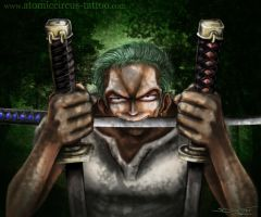 Zoro from One Piece by AtomiccircuS