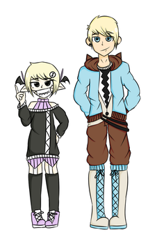 utau Siblings by silvereevee132