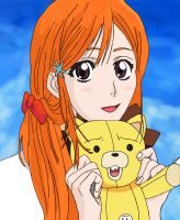 Orihime and Kon by MalleyMalos