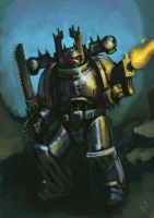 Iron Warrior Speedpaint by OEVRLORD