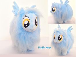 Fluffy hybrid pegasus plush by Epicrainbowcrafts