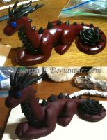 Dragon Sculpture by Zoephiia