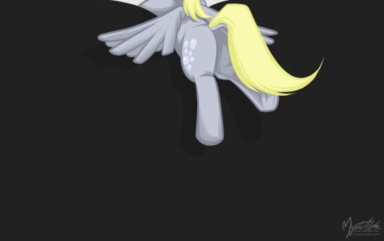 Derpy Hooves in my Screen by mysticalpha