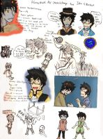 John and Karkat AU sketchdump by Tenshi-Kuro