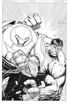 Indestructible Hulk 7 variant cover by MarkMorales