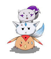 Digimon Totem Pole by shadow-wolf051
