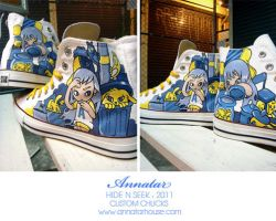 Hide And Seek , Custom Chucks by Annatarhouse