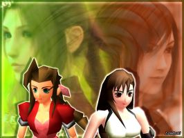 Tifa and Aerith by LoveLoki