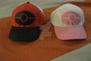Pokemon Black and White hats by My-Dark-Dreams