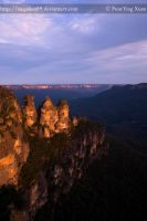 The Three Sisters, Sunset by Snapshot89