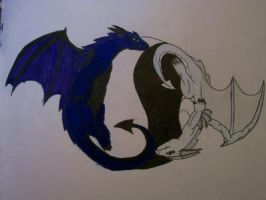 Yin Yang Dragons by MewXGirl