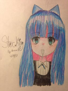 Anarchy Stocking {Bust drawing} by Ix-CULTS-xI